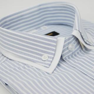【金安德森】條紋雙領窄版短袖襯衫-fast