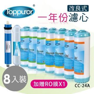 【Toppuror 泰浦樂】改良版一年份濾心-TPR-RO系列專用(CC-24A  加贈50GRO膜*1)