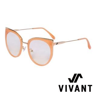 【VIVANT】愛戀系列金屬貓眼太陽眼鏡.橘 AMOUR C5