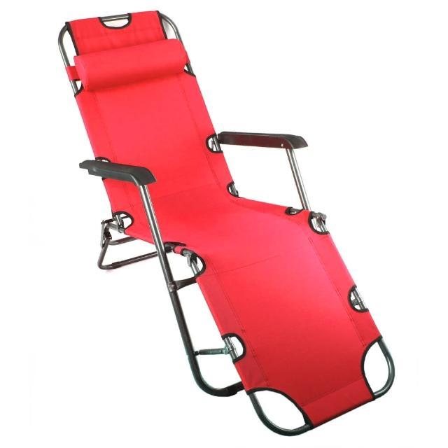 【TreeWalker】單人三段式躺椅、露營床(大紅色)