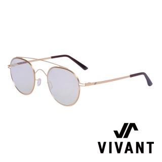 【VIVANT】新月系列簡約復古雙樑太陽眼鏡.榛果色(LUNE C4)