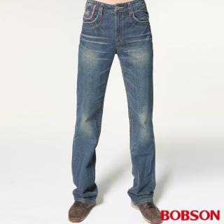 【BOBSON】男款中直筒牛仔褲(1726-53)