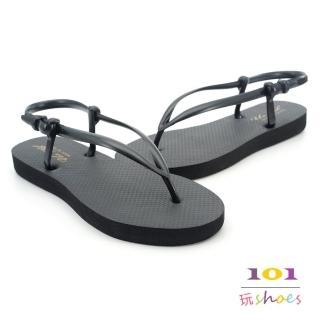 【101玩Shoes】mit. 簡約防水夾腳便利涼鞋(黑色.36.38.40號)