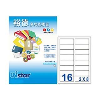 【Unistar 裕德】3合1電腦標籤 US4479(16格 100張/盒)
