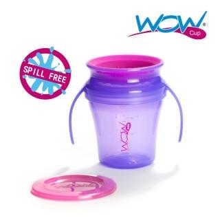 【Wow cup】美國WOW Cup baby 360度握把透明喝水杯(果凍紫)