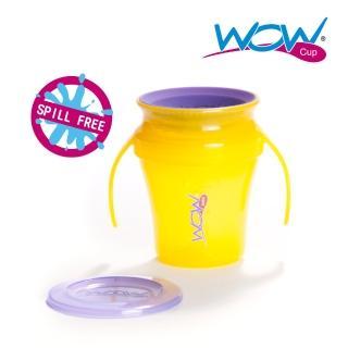 【Wow cup】美國WOW Cup baby 360度握把透明喝水杯(果凍黃)