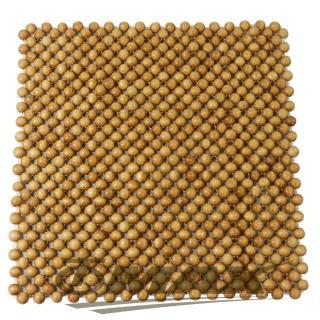 【OMAX】天然檜木香圓珠坐墊-1入