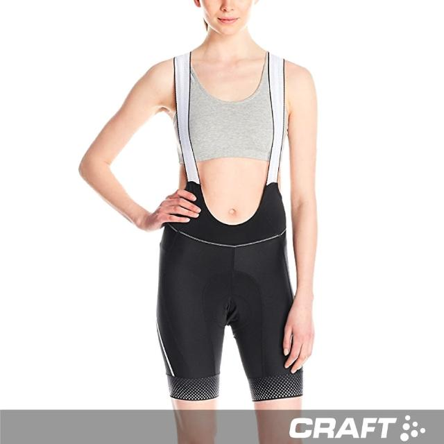 【瑞典 CRAFT】Glow Bibs 女用自行車吊帶短褲 1903276 (黑色)(瑞典 機能 排汗 吊帶車褲 女用)