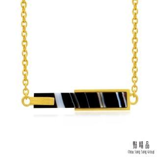 【點睛品】g* 系列 黑瑪瑙黃金項鍊