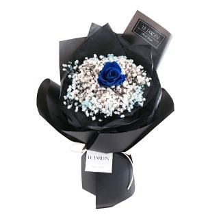 【LJ.Flower 詩意花園】永生玫瑰花束-寶藍爵士(小)