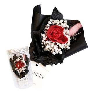 【LJ.Flower 詩意花園】永生玫瑰小花罐(美女與野獸)