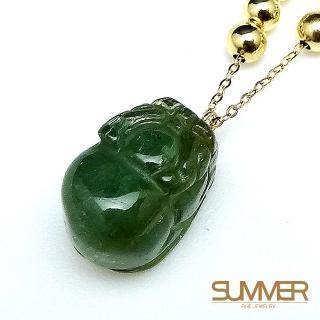 【SUMMER寶石】天然碧璽18K金貔貅墜鍊(KG-99)