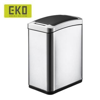 【EKO】雅律自動感應垃圾桶8L(居家/客廳/廚房/自動感應/衛浴/收納桶/不鏽鋼垃圾桶/緩降垃圾桶/回收桶)