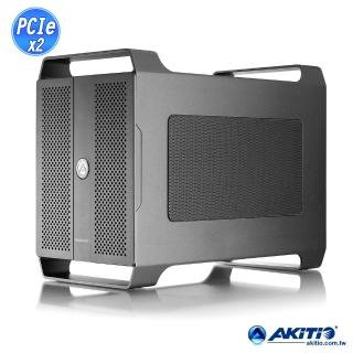【AKiTiO 艾客優品】Node Duo 雙 PCIe 轉接盒(支援Mac / Thunderbolt3 轉雙 PCIe)