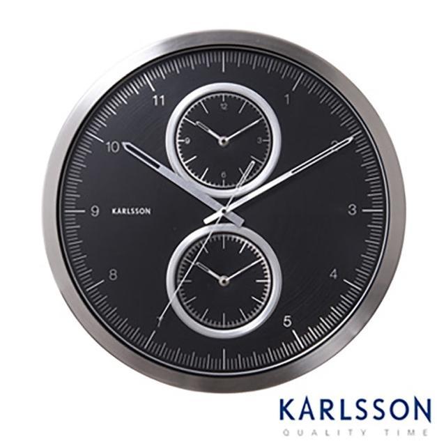 【歐洲名牌時鐘】KARLSSON-時尚腕錶造型時區時鐘《歐型精品館》(簡約時尚造型/掛鐘/壁鐘)
