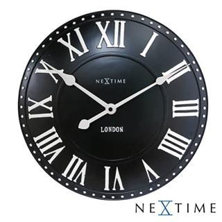 【歐洲名牌時鐘】NEXTIME-新古典英倫鐘/黑《歐型精品館》(簡約時尚造型/掛鐘/壁鐘)