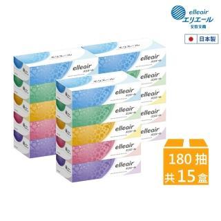 【日本大王】elleair 柔膚抽取式面紙3串組(180抽x5盒)