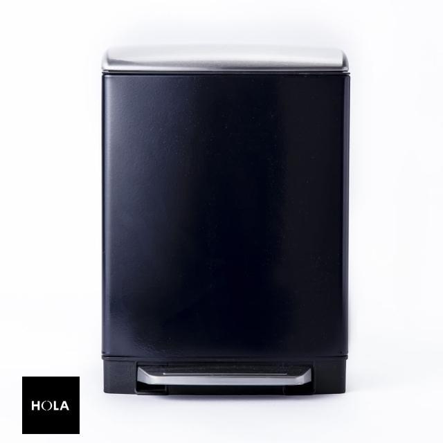 【HOLA】赫拉方形緩降防指紋垃圾桶12L紫