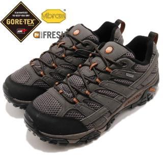 【MERRELL】戶外鞋 Moab 2 防水 寬楦 運動 男鞋 低筒 抗菌鞋墊 黃金大底 舒適 穿搭 灰 黑(ML06039W)
