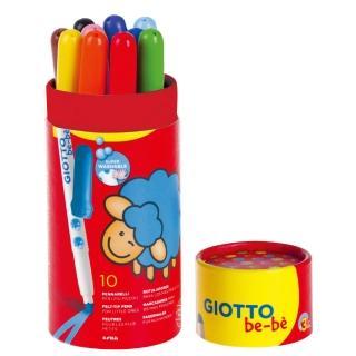 【義大利GIOTTO】可洗式寶寶彩色筆10色(筆筒裝)