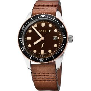 【ORIS 豪利時】琴宇謙揚限量腕錶-咖啡/42mm(0173377204388-SetLS)