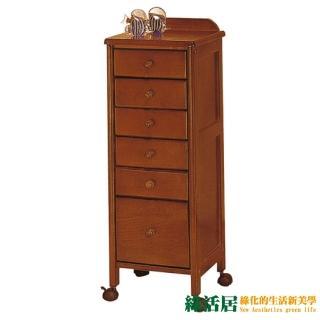 【綠活居】高柏  時尚1.1尺木紋六抽玄關櫃/收納櫃