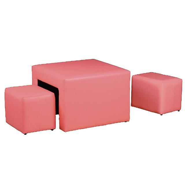 【AS】吉德一桌兩椅茶几組-60x60x44cm(兩色可選)