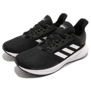【adidas 愛迪達】慢跑鞋 Duramo 9 K 低筒 運動 女鞋 愛迪達 輕量 舒適 透氣 路跑 大童 黑 白(BB7061)
