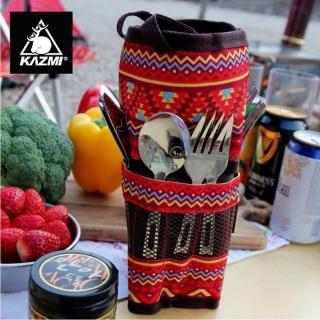 【KAZMI】KAZMI 不鏽鋼餐具組附收納袋