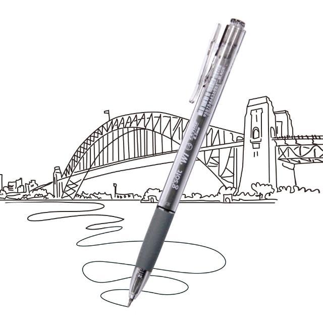 【龍品】gsoft BP-GS-W1 0.7自動中油筆-黑(gsoft BP-GS-W1 0.7自動中油筆-黑)