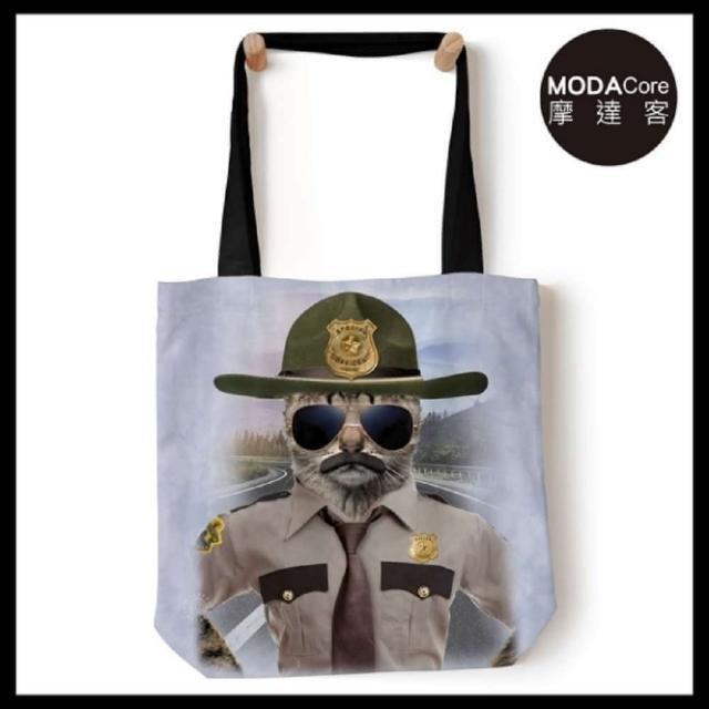 【摩达客】美国The Mountain 警长猫 艺术环保托特包(18x18 / 预购)