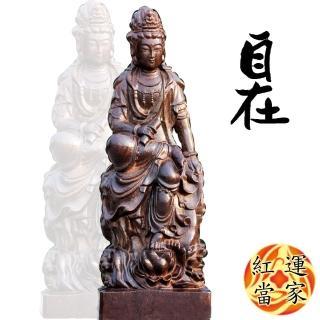 【紅運當家】越南沉香 木雕大佛像 自在觀音(重約1.4公斤)