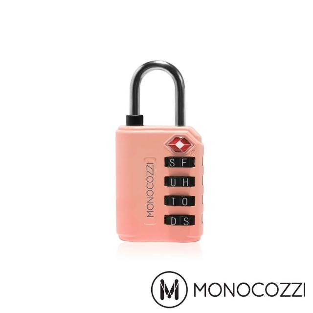 【MONOCOZZI】TSA LETTERS LUGGAGE LOCK 字母海關鎖(珊瑚粉)