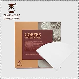 【TIMEMORE 泰摩】02號淨白V型濾紙-50片/盒(濾紙)