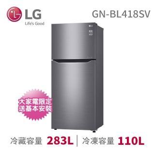 【LG 樂金】393公升直驅變頻上下門冰箱◆星辰銀(GN-BL418SV)