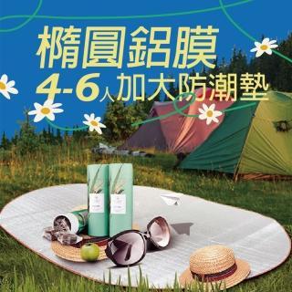 【XINCHANG】帳篷專用 橢圓鋁膜4-6人加大防潮墊(野餐墊)