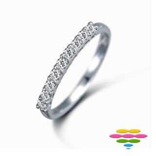 【彩糖鑽工坊】14K 19分鑽石 排戒線戒(Elegance 系列)