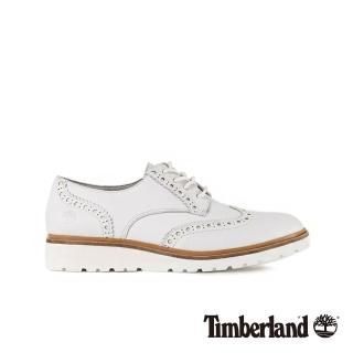 【Timberland】女款白色皮革Ellis street淺口鞋