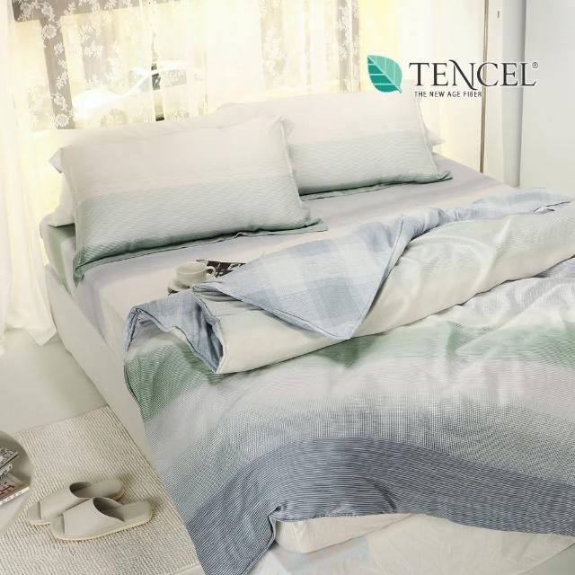 【丝薇诺】天丝床包铺棉两用被套组(双人加大6尺-十胜川)