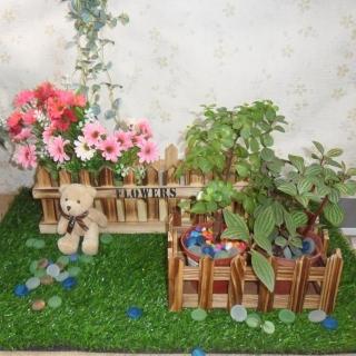 【園藝世界】木長槽盆 - 2入組