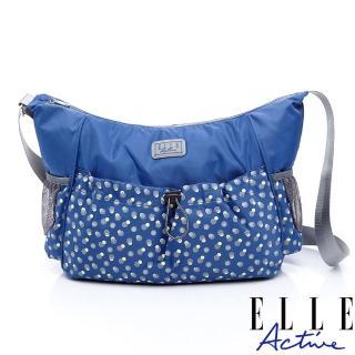 【ELLE active】旅人系列-側背包/斜背包-藍色