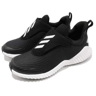 【adidas 愛迪達】慢跑鞋 FortaRun AC K 童鞋 愛迪達 魔鬼氈 輕量 避震  黑 白(AH2627)