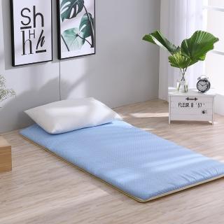 【LAMINA】雙竹兩用透氣床墊-水玉點點-藍(單人)