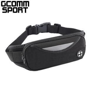 【GCOMM】GCOMM SPORT 雙袋防汗水音樂運動腰包 經典黑(運動腰包)