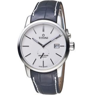 【TITONI 梅花錶】天星系列經典機械腕錶(83638S-ST-606)
