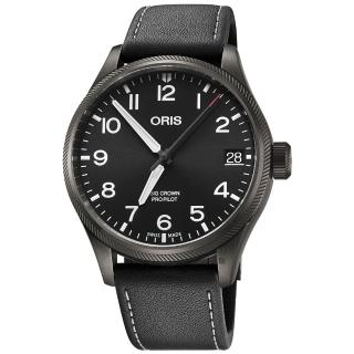 【ORIS 豪利時】Big Crown ProPilot 日期顯示機械錶-黑/41mm(0175176974264-0752019GFC)