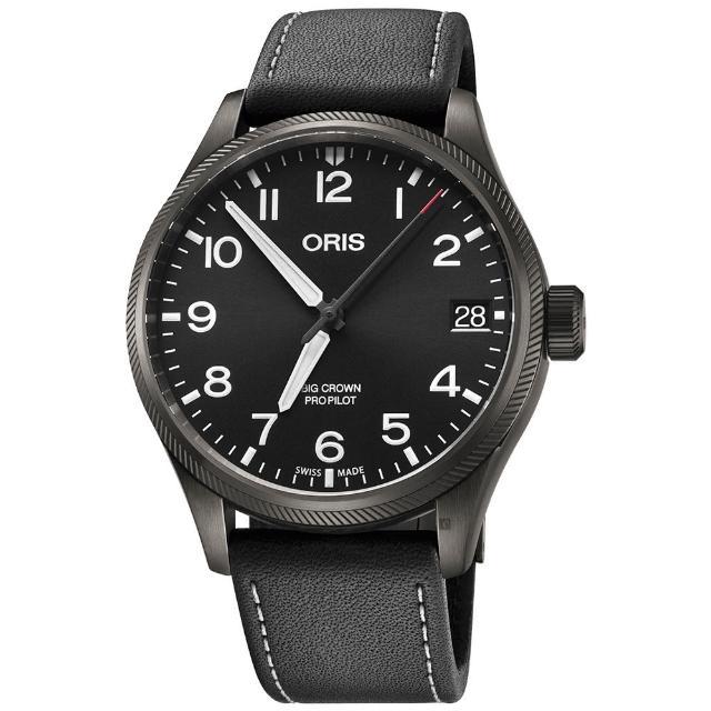 【ORIS 豪利時】Big Crown ProPilot 日期顯示機械錶-黑/41mm(0175176974264-0752019GFC)