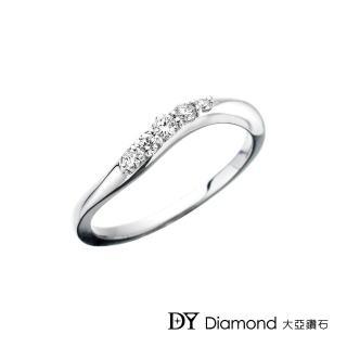 【DY Diamond 大亞鑽石】18K金 時尚簡約鑽石線戒