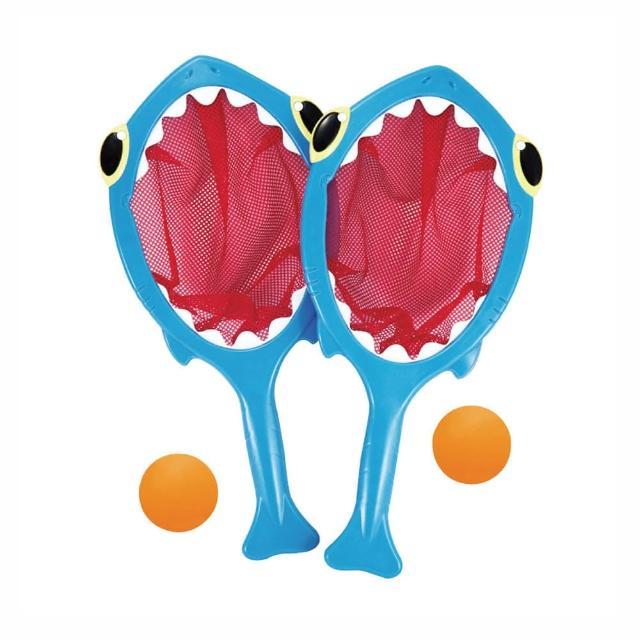 【Melissa & Doug 瑪莉莎】鯊魚接球組 感統感覺統合手眼協調遊戲(益智成長 邏輯建構 原裝進口)