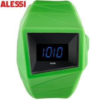 【ALESSI】幾何線條立體電子錶(膠錶)